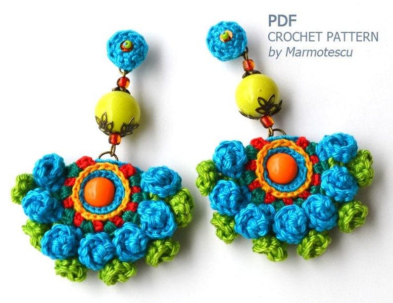 PDF 3D crochet earrings pattern learn how to make fabulous image 4