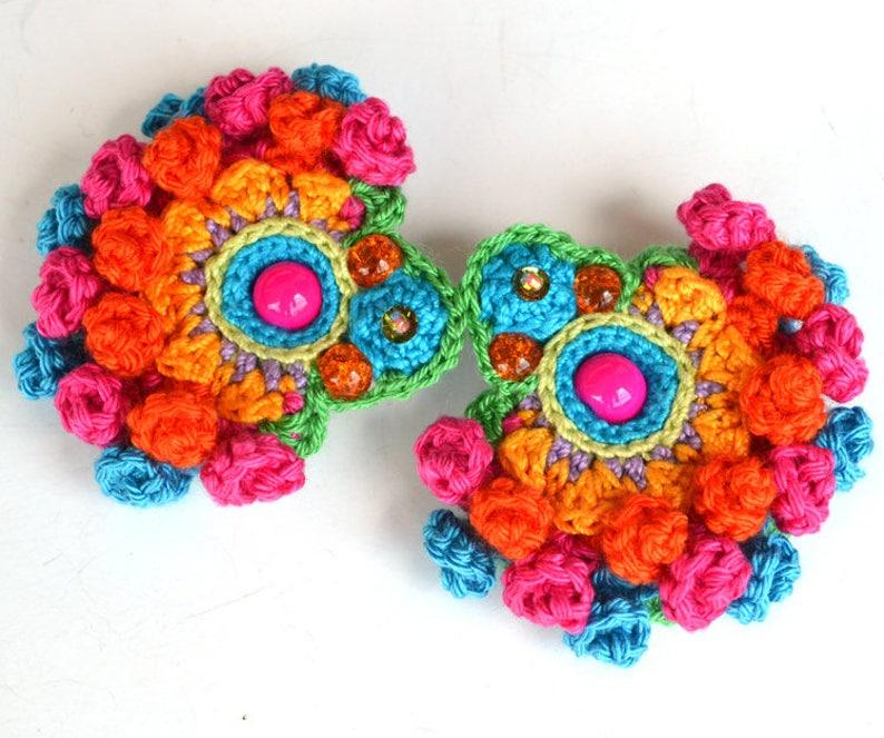 statement big mexican earrings for women large fun fiesta image 0
