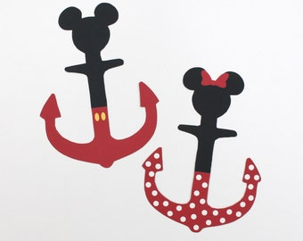 Disney Cruise Magnet - Mickey Shaped Anchors