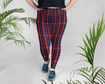 da5ef4fe7e0 Akira Red Plaid Print Women s Long Yoga Pants