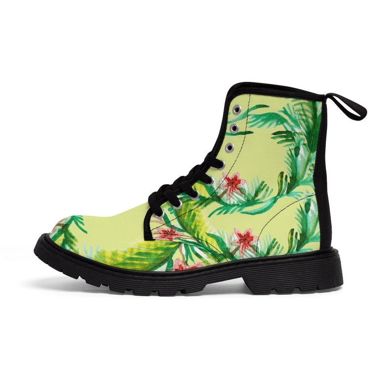 e6a6f0b8d15d3 Ikuyo Floral Print Women's Nylon Canvas Winter Boots (US Size: 6.5-11)Lace  -up Toe Cap Boots, Boots With Flower, Flower Floral Boots Shoes