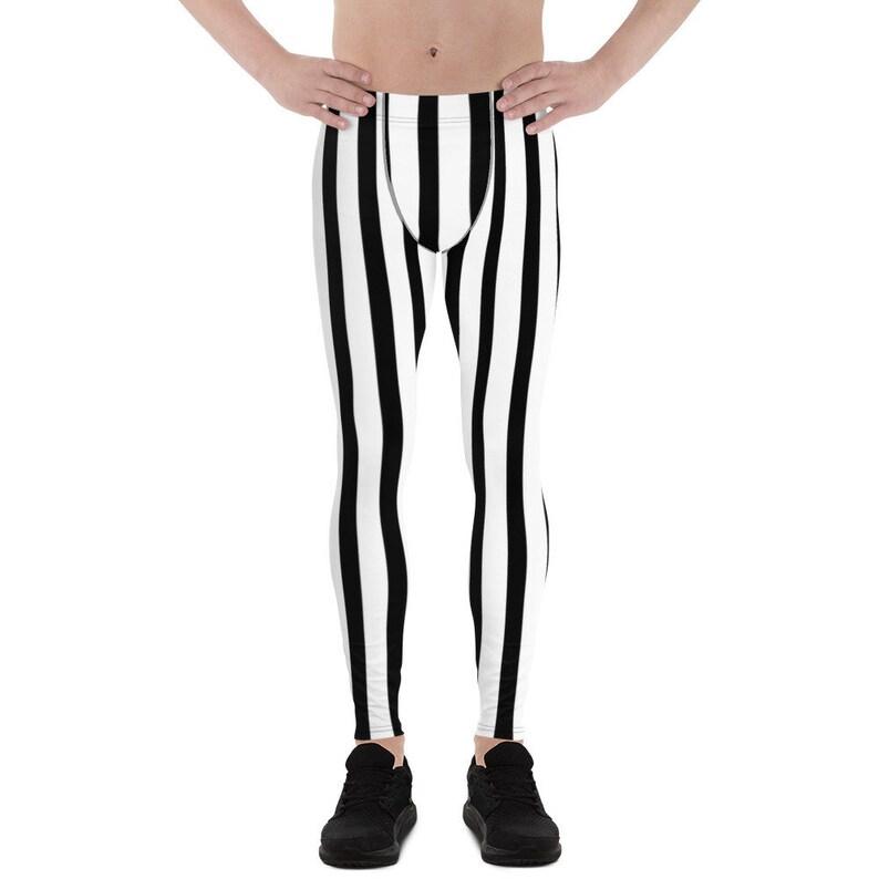 9d7e17e34ec7d Akimasa Black and White Vertical Striped Men's Running   Etsy