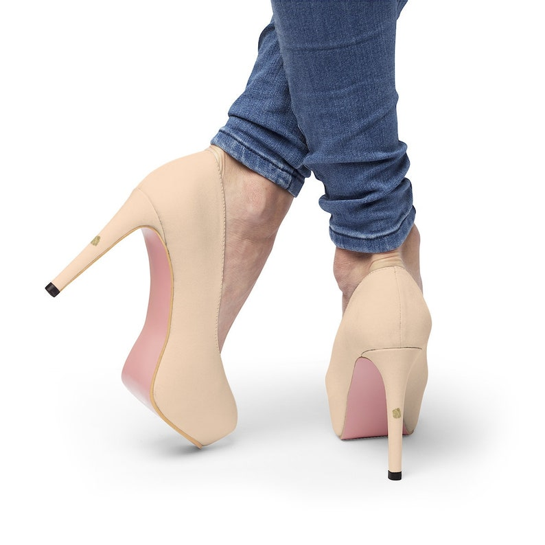 b282b0fc6 Momo Peach Pink Nude Skin Color Women's Platform Heels | Etsy