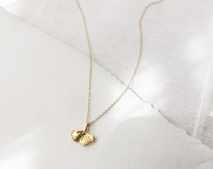 Baby Ginko Leaf Charm Necklace