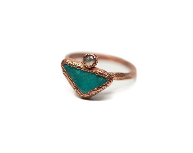 "Nacozari Turquoise & Moonstone ""Desert Moon"" Ring"