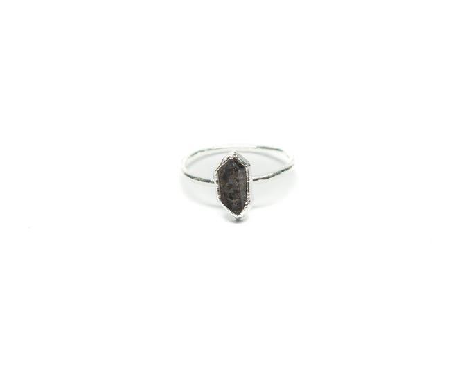 Sterling Silver Herkimer Diamond Stacking Ring