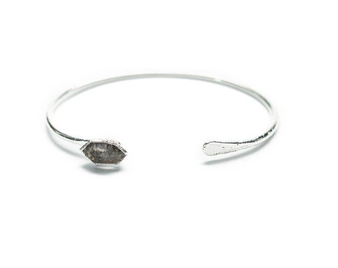 Silver Tibetan Quartz Cuff