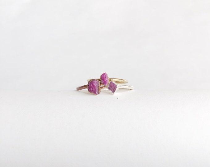 RUBY Crystal Stacking Ring