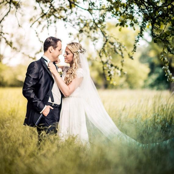 Flower Crown Wedding Veils Country Wedding Rustic Wedding Veil Bridal Wedding Veil