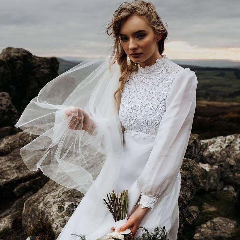 Schönheit zwei Schichten kurze Net Tüll Braut Schleier für Hochzei CBL
