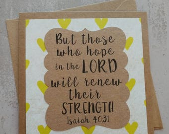But Those Who Hope In The Lord - Encouragement Card - Isaiah 40v31