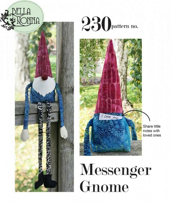 Messenger Gnome Pattern By Bella Nonna Quilts