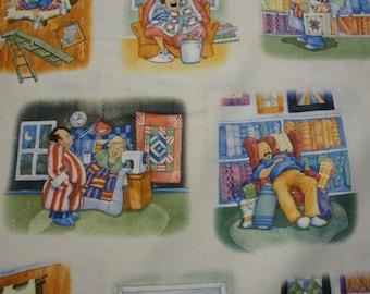 Vignettes of Quilter's Husbands-Elizabeth Studios-BTY