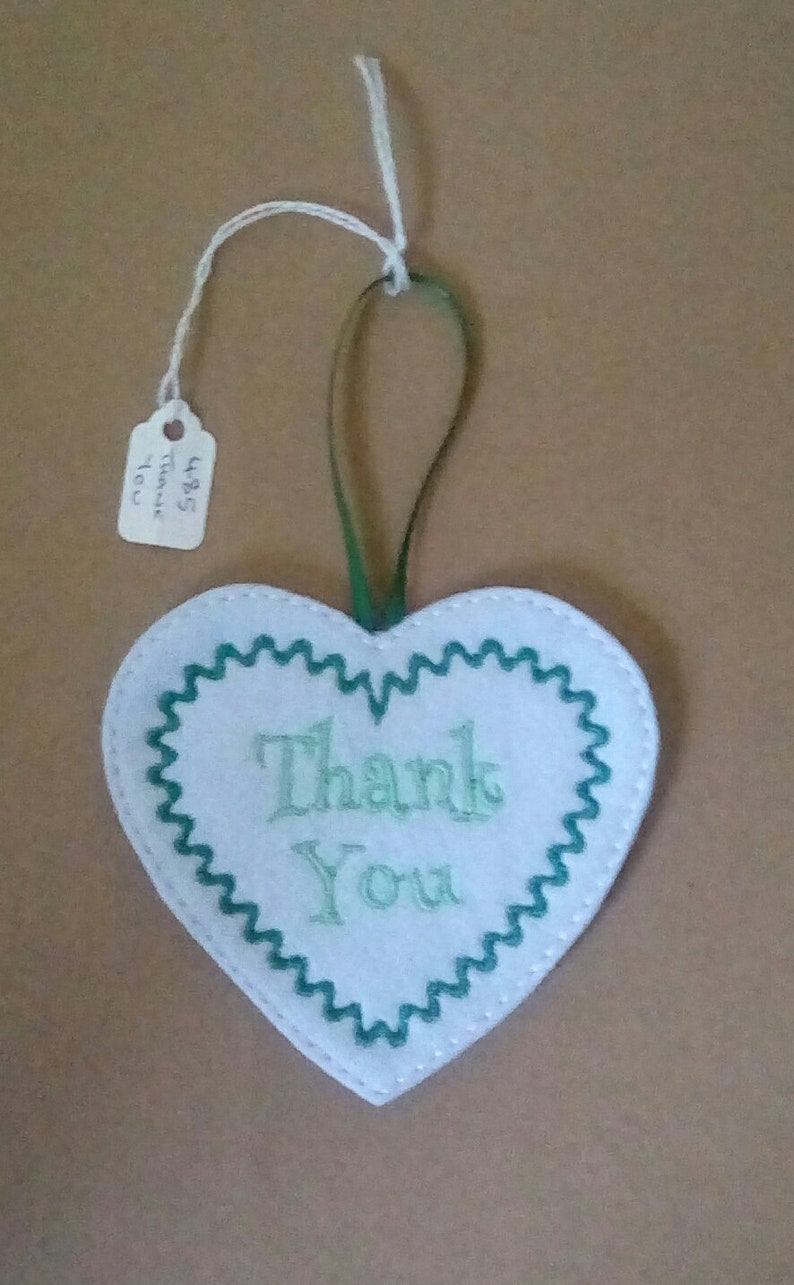 485 Thank You hanging heart.
