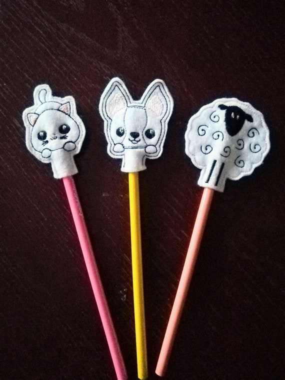 Sheep pen or pencil topper. Dog92 188 Cat132