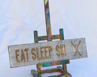 EAT SLEEP SKI - Wall Art