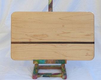 Maple Charcuterie Board with Walnut Stripe