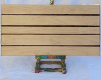 Maple Charcuterie Board with Walnut Stripes