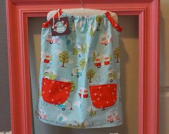 Baby Girl Pillowcase Dress 2T Glamping Matching Headband