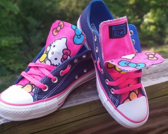 bf58e46bdad1 Customized Converse All-Star Low Top- Hello Kitty ACupOfCustom