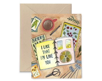 I Like That I'm Like You Mother's Day Father's Day Greeting Card, Watercolor Notecard by Little Truths Studio