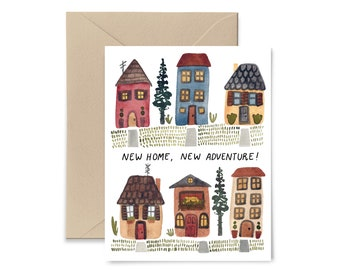 New Home, New Adventure Greeting Card, Watercolor Notecard by Little Truths Studio