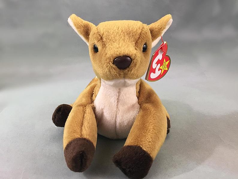 3f48b2717e9 Mint Deer Fawn Whisper Rare Beanie Baby Error