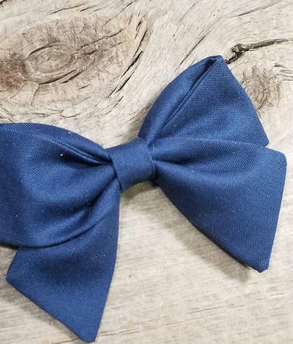 Navy Blue Sailor Bow Sailor Hair Bow Fabric Bow Navy Blue Bow