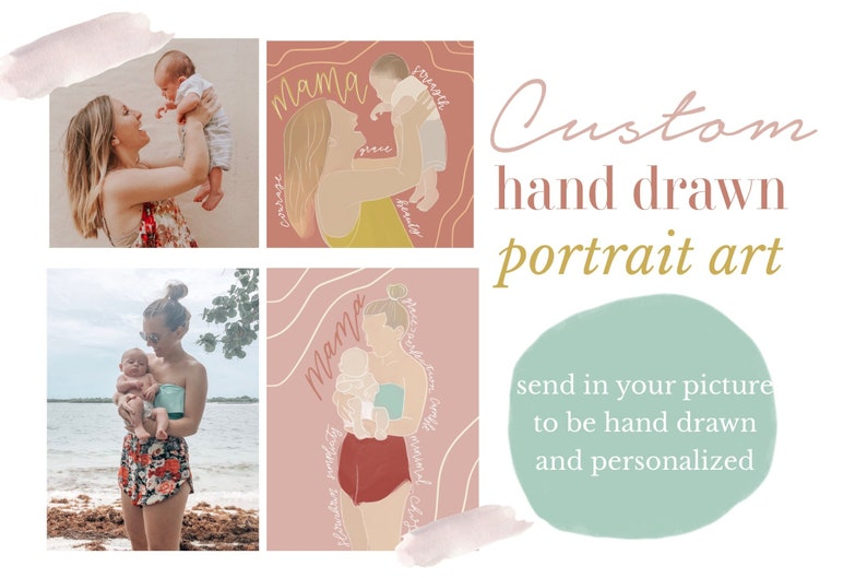 Custom Hand Drawn Portrait image 0