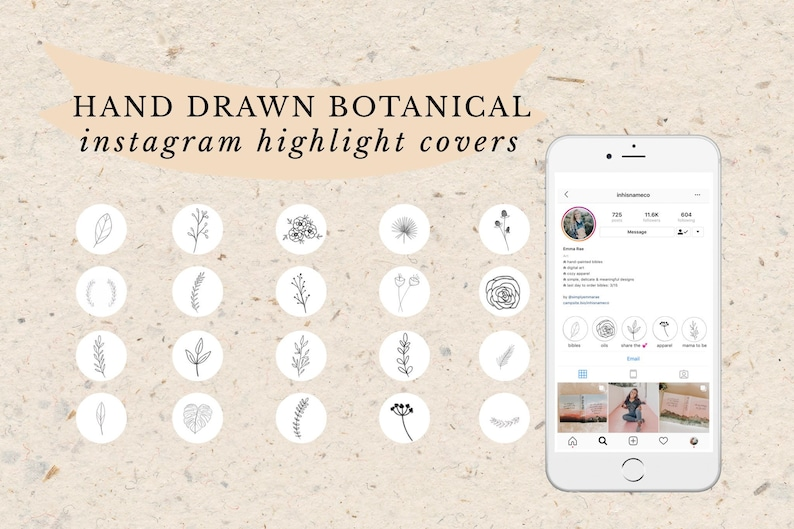Botanical Collection  Hand Drawn Instagram Story Highlight image 0