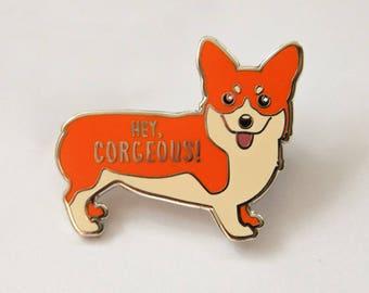 Royal Corgi Hard Enamel Pin