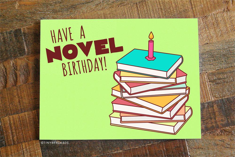 Book Lover Birthday Card Have A Novel Birthday Etsy