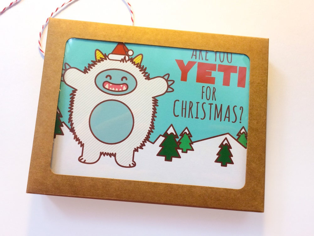 Boxed Set of 8 Holiday Cards Are you Yeti For | Etsy