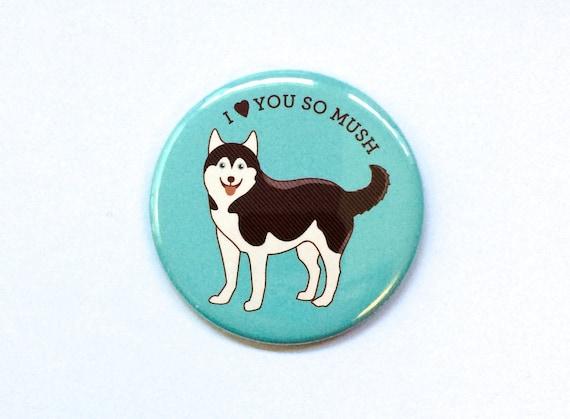 Pin Magnet or Pocket Mirror Funny Corgi Dog ButtonHey Corgeous