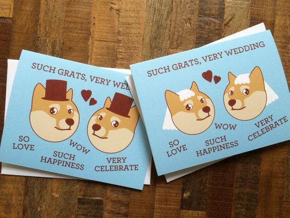 Schwul Oder Lesbisch Hochzeitskarte Doge Meme Solche Etsy