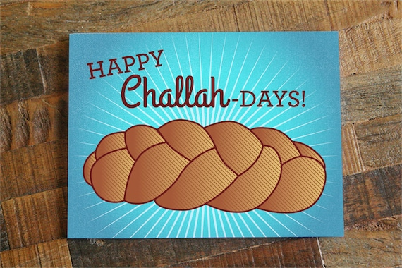 Funny hanukkah card happy challah days funny etsy image 0 m4hsunfo