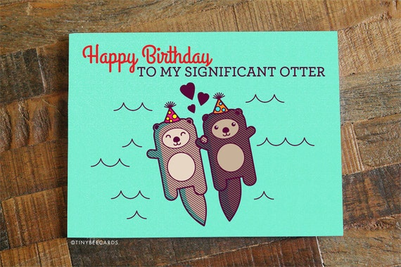Funny Birthday Card Happy Birthday To My Significant Etsy