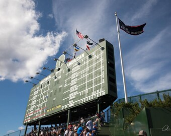 Wrigley Field Scoreboard (Chicago Cubs) Photo
