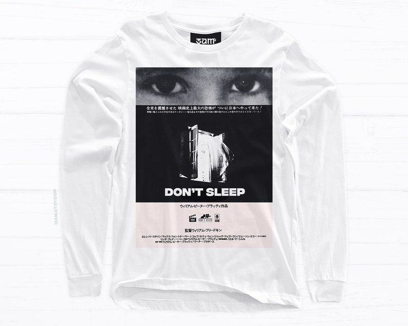 2d79d9752e266 Don't Sleep Shirt • Vintage Japanese Horror Poster Design • Short or Long  Sleeve • Unisex Tees