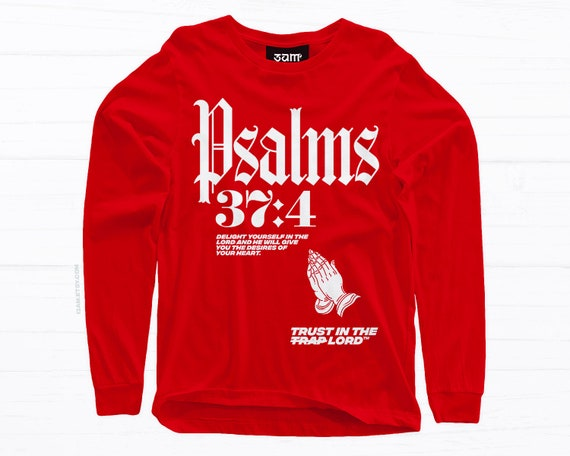 69fed818152ee Delight Long Sleeve T-shirt • Praying Religious Design • Psalms Bible Verse  • Unisex Tees