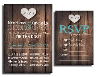 PDF Rustic Country Wedding Invitation Set