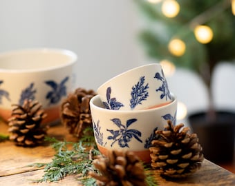 Coffee bowl - Rose - Fruit and conifer trees