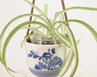 Cactus Hanging Gardener - Purple Blue - Floral