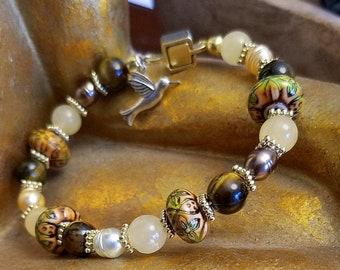 Rosy Posy Gemstone Bracelet