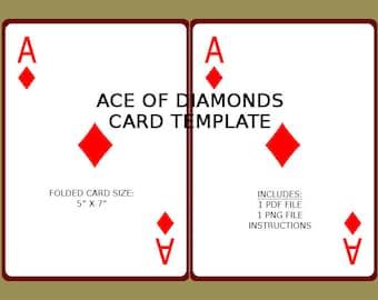 Digital joker card template birthday shower invite etsy digital ace of diamonds card template birthday shower invite download png pdf print maxwellsz