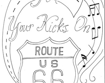 vintage coloring pages etsy - photo#15