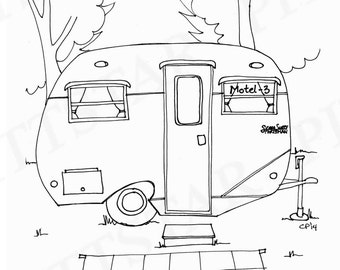 Camper Coloring Page - GetColoringPages.com | 270x340