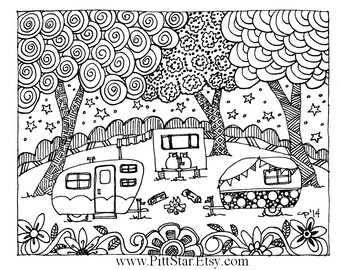 vintage coloring pages etsy - photo#37