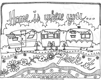 Rv Coloring Page Etsy