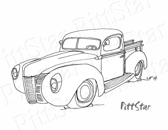 Instant Download Vintage 1940 S Ford Pickup Truck Etsy